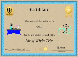 Isle of Wight trip