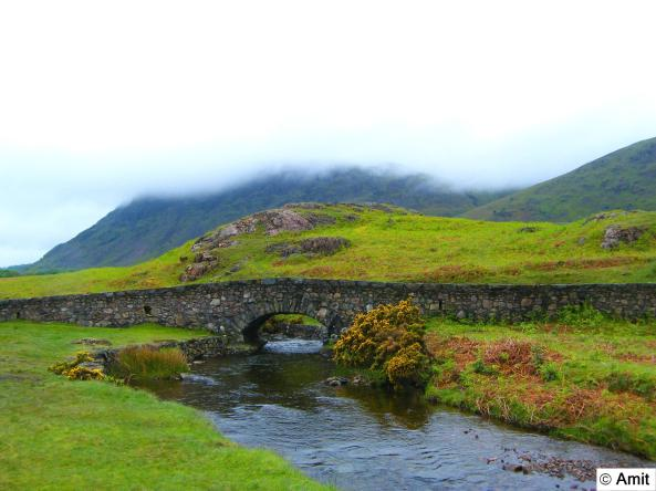 A stone bridge at WastWater, Lake District
