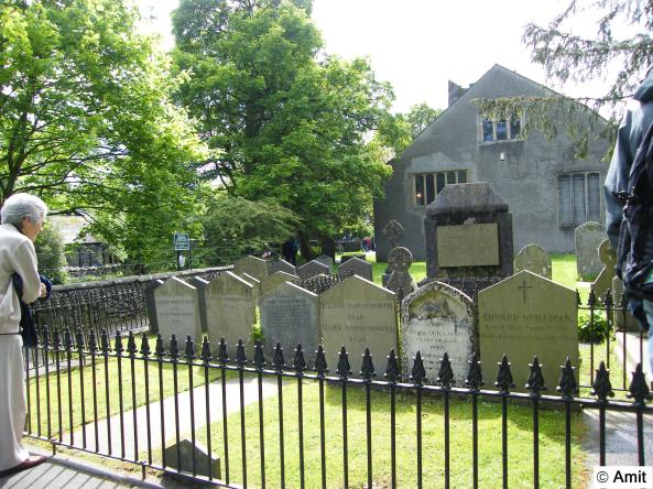 The graves of William Wordsworth and family