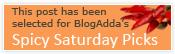 Blogadda's Spicy Saturday Pick