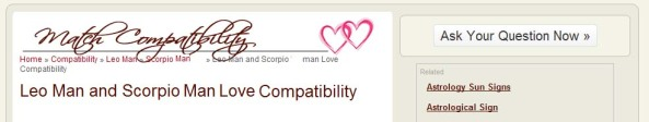 Love Compatibility men