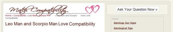 Love Compatibility men