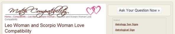 Love Compatibility women
