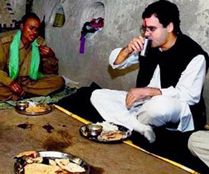 Rahul Gandhi Dalit Dinner