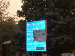 Sign board