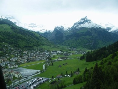 Coming down from Titlis
