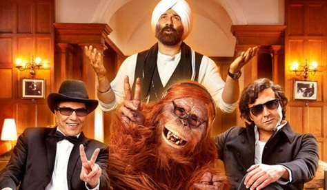 God Dharmendra with God Bobby, God Sunny and God Chewbecca (Image from here)